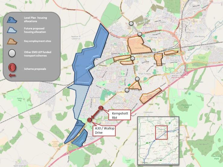 Basingstoke South West Corridor to Growth - Phase 3