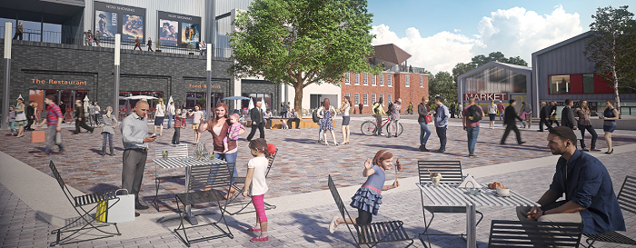Architects view Whitehill and Bordon town centre